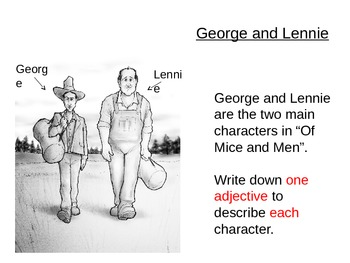 Of Mice and Men - George and Lennie