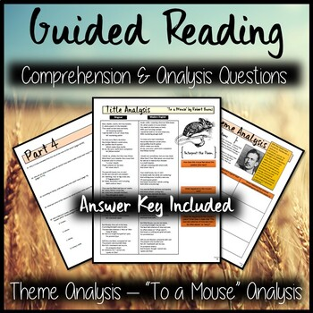Of Mice and Men Guided Reading Packet PLUS PowerPoint