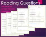 Of Mice and Men Guided Reading Questions Bundle Chapter 1,