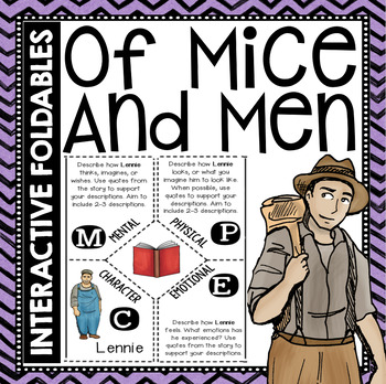 Of Mice and Men: Reading and Writing Interactive Notebook Foldable