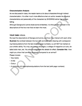 Of Mice and Men Introduction- Summary, Analysis and Characterization