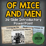 Of Mice and Men Introductory PowerPoint and Activity