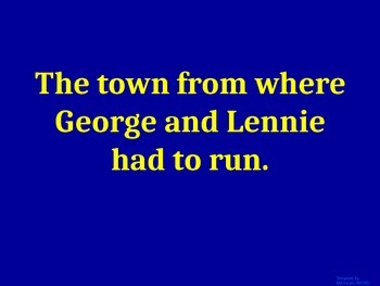 Of Mice and Men: Jeopardy Review Game