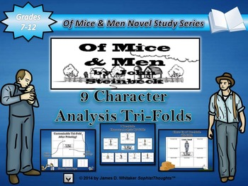 Of Mice and Men John Steinbeck Character Analysis Tri-Folds
