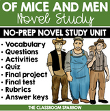 Of Mice and Men Novel Study (John Steinbeck): Vocabulary, Activities, Quiz, Test