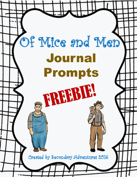Of Mice and Men Journal Prompts {8}