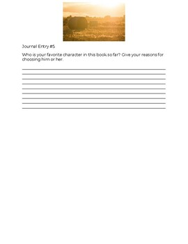 Of Mice and Men Journal Questions