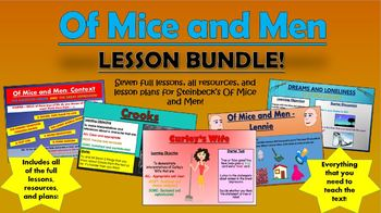 Of Mice and Men Lesson Bundle!