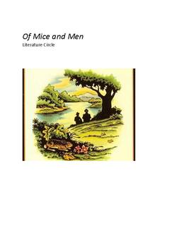 Of Mice and Men Literature Circle with Common Core Standards