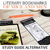 Of Mice and Men Literary Bookmarks: Active Reading Activity