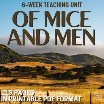 Of Mice and Men Complete Teaching Unit - No Prep Handouts, Tests & More