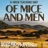 Of Mice and Men Complete Teaching Unit - No Prep Handouts, Tests, Lessons