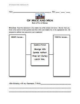 Of Mice and Men - Literature Unit