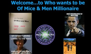 Of Mice and Men Millionaire Quiz Video