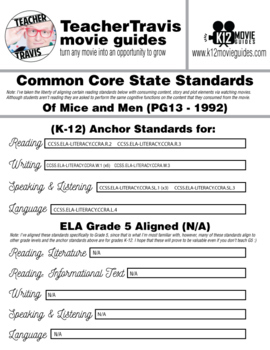 Of Mice and Men Movie Guide (PG13 - 1992)
