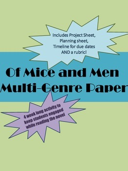 Of Mice and Men Multi-Genre Paper