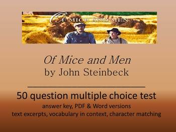 Of Mice and Men Multiple Choice Test