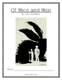 Of Mice and Men - Novel Study