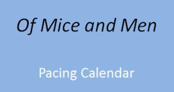 Of Mice and Men Pacing Calendar