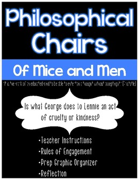 Of Mice and Men Philosophical Chairs - Lennie's End: Kind or Cruel?