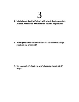 Of Mice and Men Post Read Discussion Questions