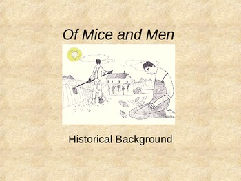 Of Mice and Men PowerPoint **Accompanies Complete Unit