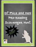Of Mice and Men Pre-Reading Scavenger Hunt