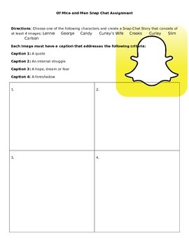 Of Mice and Men Snap Chat Character Analysis