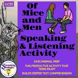 Of Mice and Men Speaking and Listening Small Group Collabo