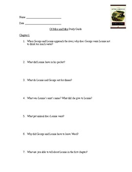 Of Mice and Men: Study Guide