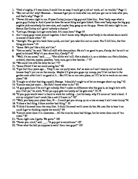 Of Mice and Men Study Guide with Important Quotes