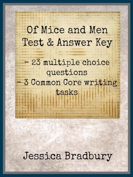 Of Mice and Men Test with Key