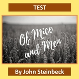 """Of Mice and Men"" Test with Study Guide and Answer Key"