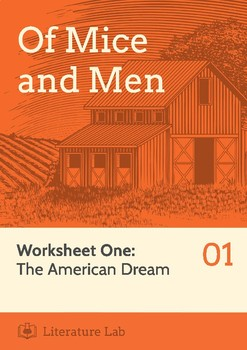 Of Mice and Men - 'The American Dream' Worksheet