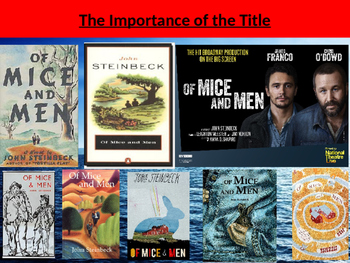 Of Mice and Men - The importance of the title (and the original title!)