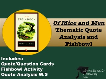 Of Mice and Men Thematic Quote Analysis and Fishbowl
