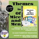 Themes in Of Mice and Men : Interactive Mini-Binder and Th