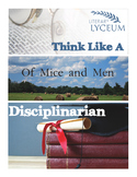 Of Mice and Men Think Like a Disciplinarian Lesson