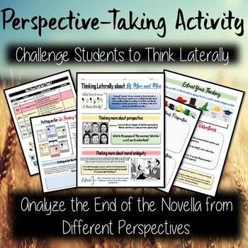 Of Mice and Men Thinking Hats Activity