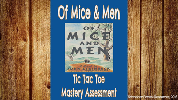 Of Mice and Men Tic Tac Toe Mastery Assessment