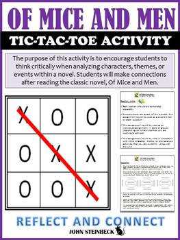 Of Mice and Men: Tic-Tac-Toe Novel Analysis Activity
