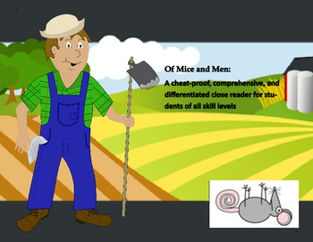 Of Mice and Men-Differentiated and Cheat-Proof Graphic Organizers