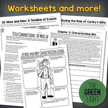 Of Mice and Men Unit Plan Bundle: PowerPoint, Task Cards, Worksheets