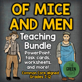 Of Mice and Men Unit Plan Bundle: PowerPoint, Task Cards,