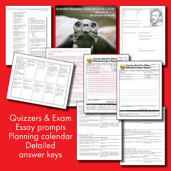 Of Mice and Men Unit Plan, FOUR FULL WEEKS of Dynamic Lessons, CCSS