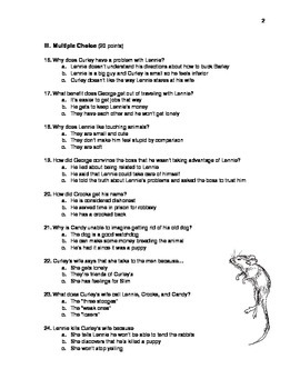 Of Mice and Men Unit Test