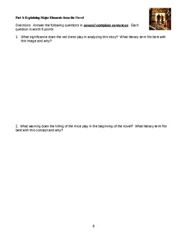 Of Mice and Men Unit Test - Common Core Ready