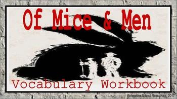 Of Mice and Men: Vocabulary Workbook Activity
