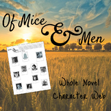 Of Mice and Men Whole Novel Character Web