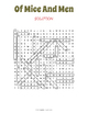 Of Mice and Men Word Search Puzzle